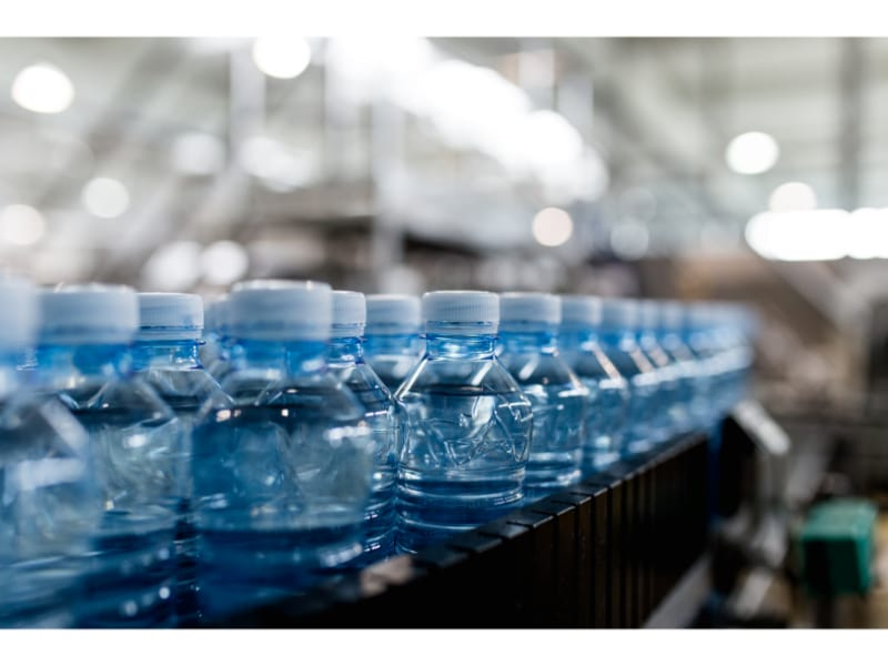 Bottled water mass production
