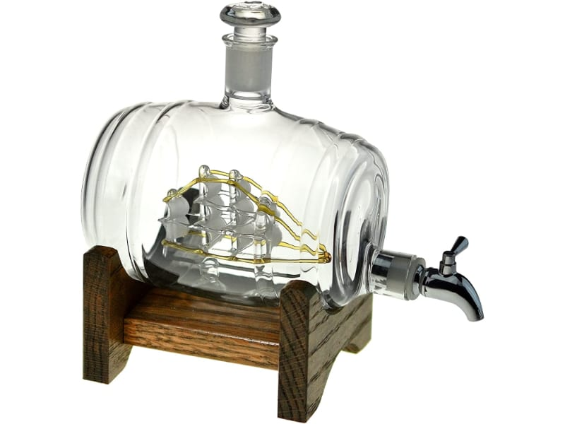 Bourbon Barrel Whiskey Decanter With Ship