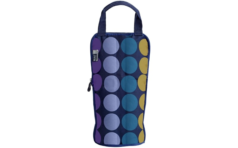 BUILT IceTec Freezable Wine and Champagne Chiller Bag, Plum Dot