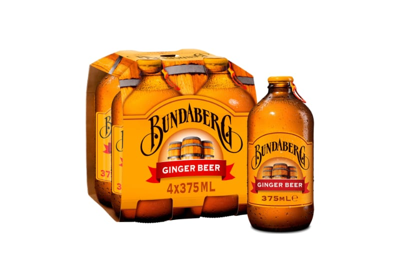 A pack of Bundaberg's ginger beer
