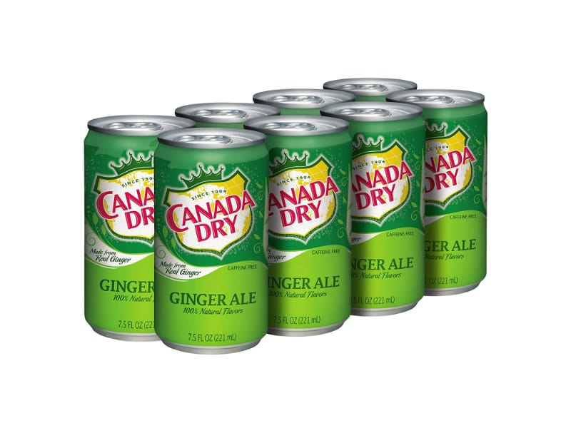 A pack of Canada Dry ginger ale