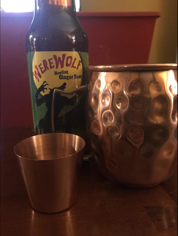 Chef's Star Copper Moscow Mule Mug set