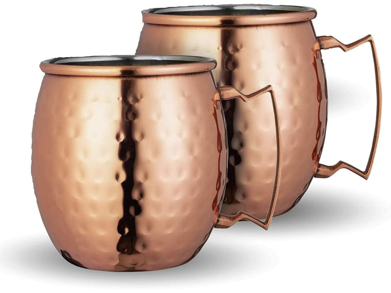 2 pieces of Chef's Star copper mugs