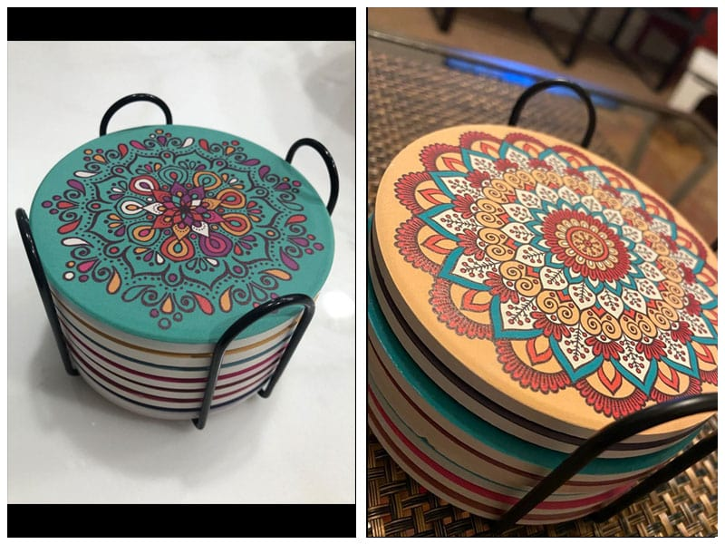 ChefBee Coaster for Drinks Set - Best Mandala Design review