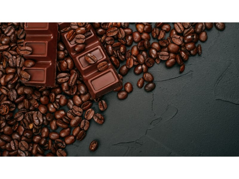 Chocolate bars and coffee granules