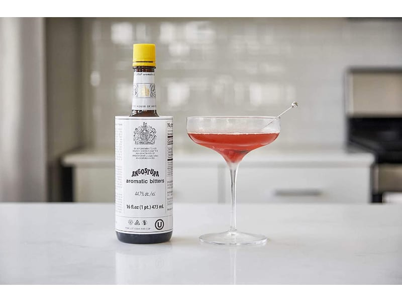 Cocktail Glass with Angostura Aromatic Bitters