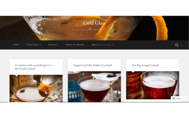 Cold Glass website