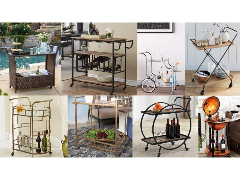 Collage of bar carts