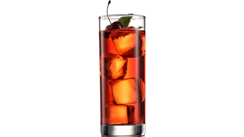 Cranberry Cocktail in a Highball Glass