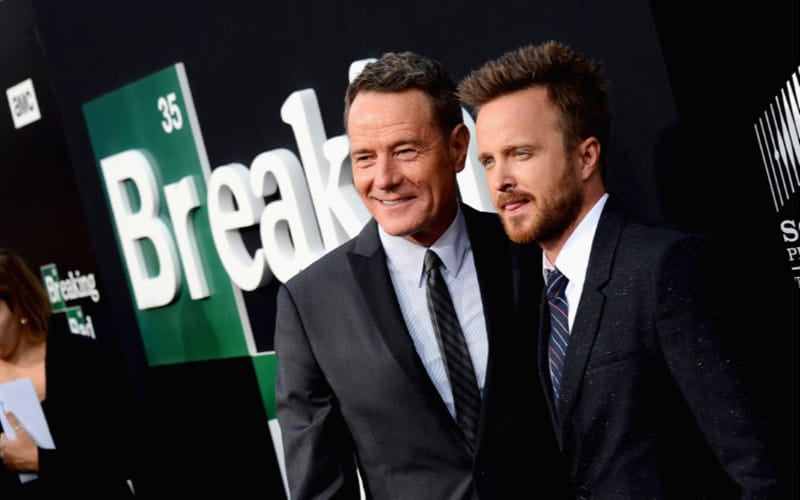 Cranston and Paul at the red carpet of Breaking Bad
