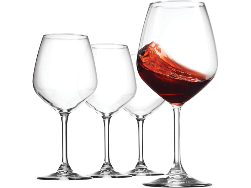 Crystal Red Wine Glasses Set of 4