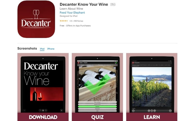 Decanter Know Your Wine App