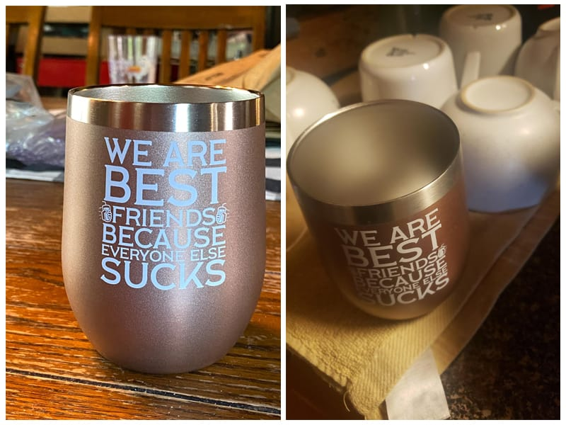 Deitybless Best Friends Wine Tumbler review
