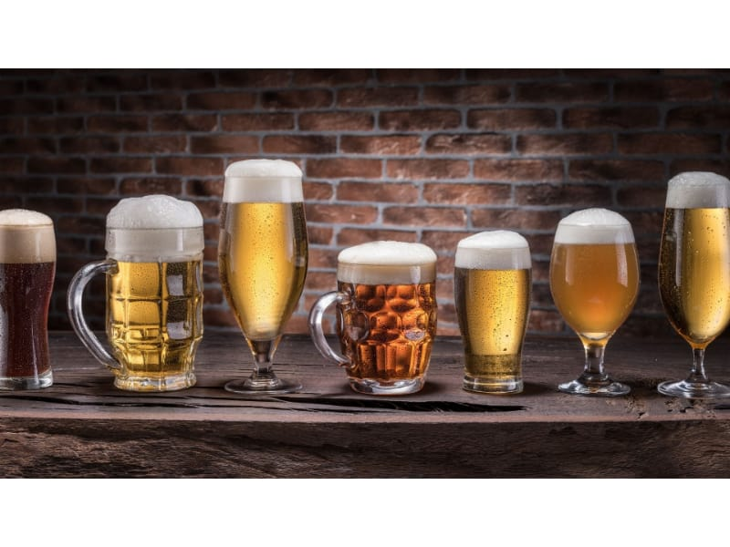 Different beer glasses
