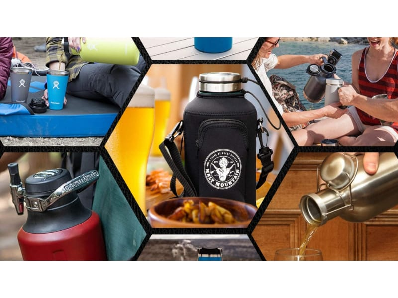 Different kinds of beer growler