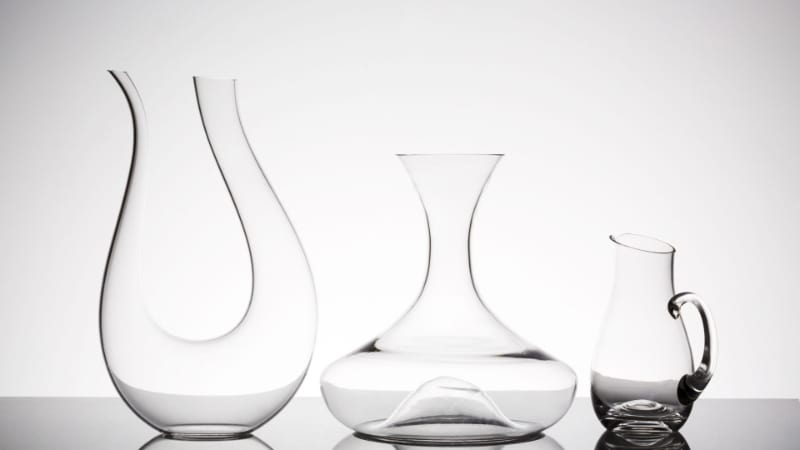 Different kinds of decanters