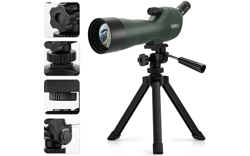 Emarth 45 Degree Angled Spotting Scope with Accessories