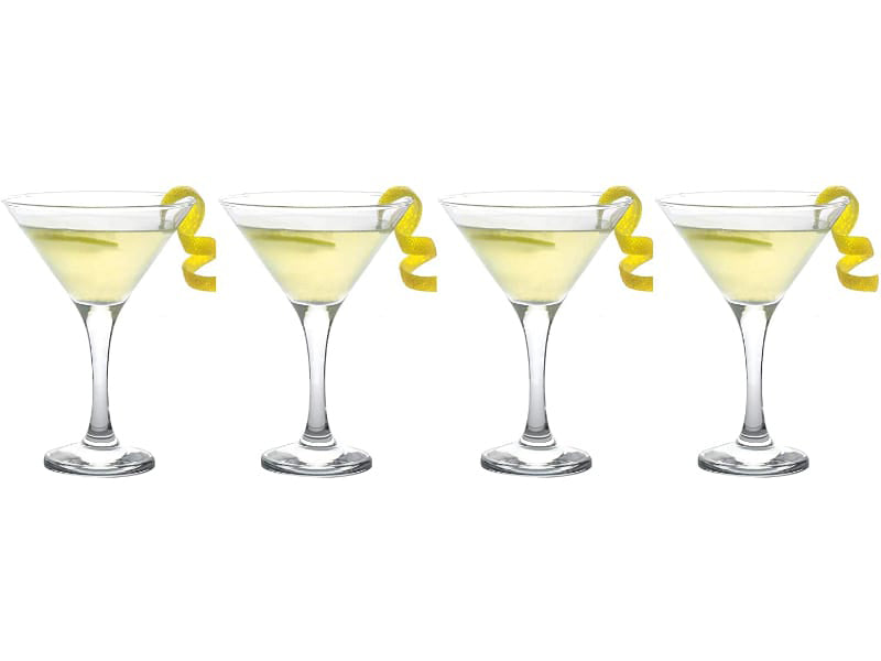 Epure Milano Collection Stemmed Martini Glass Set
