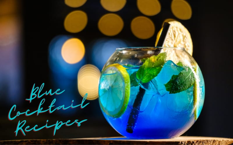 Blue Cocktail in Glass