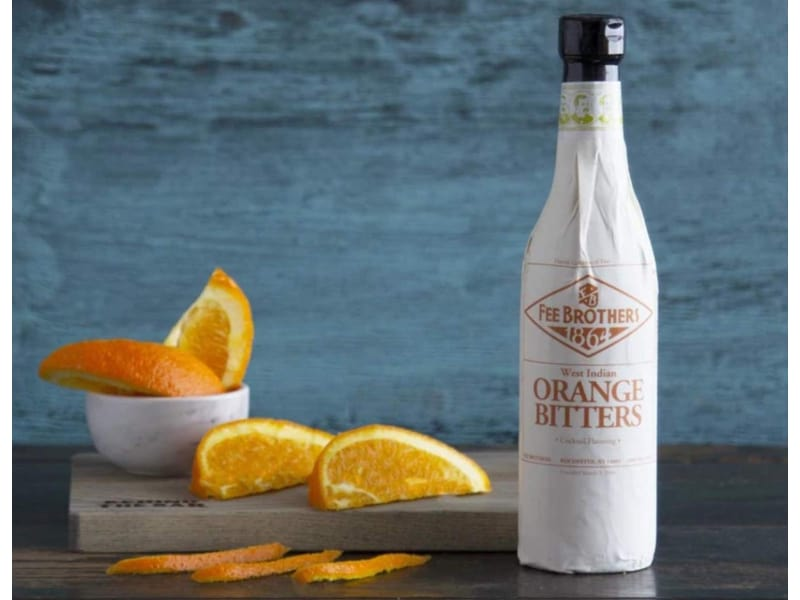 Fee Brothers Orange Bitters with real Orange slices