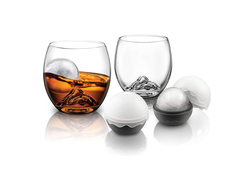 Final Touches Rocks Glass with Ice Ball Set of Two - Nosing Glass