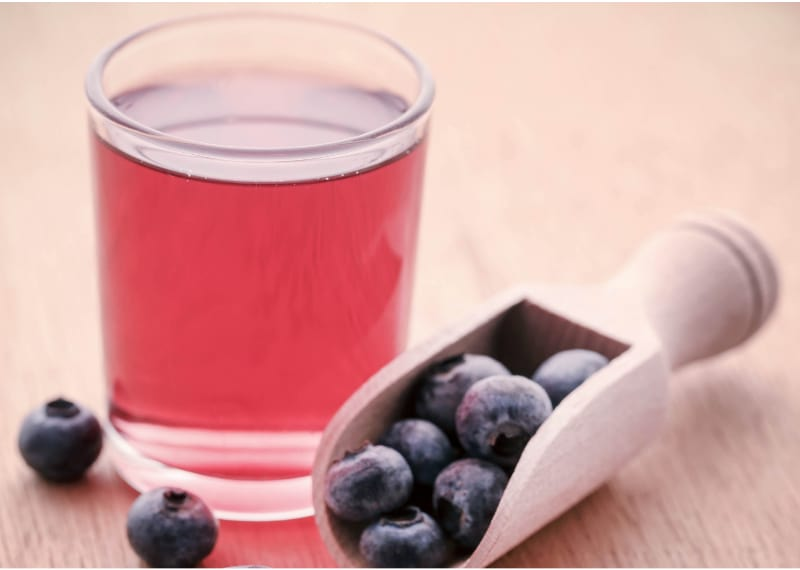 Fresh Blueberries with Mead