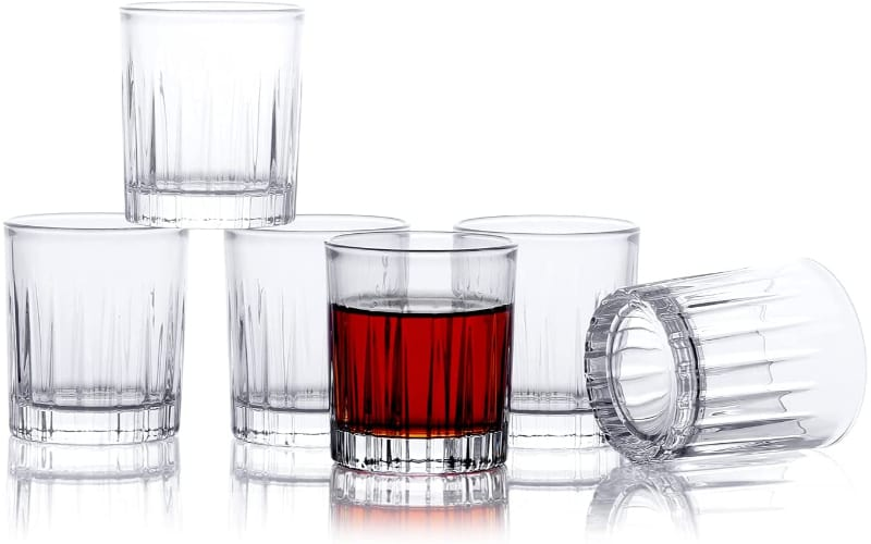 Funnlyboxx Shot Glasses with Heavy Base, Set of 6