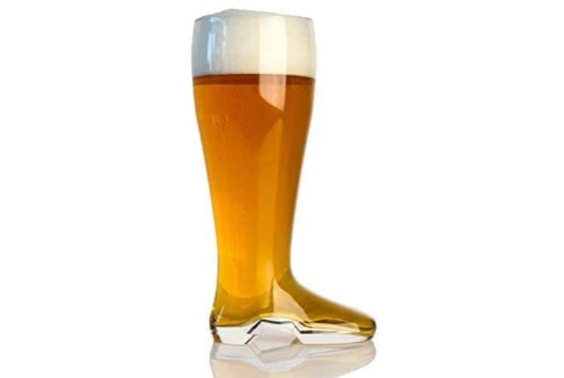 Glass Beer Boot with beer