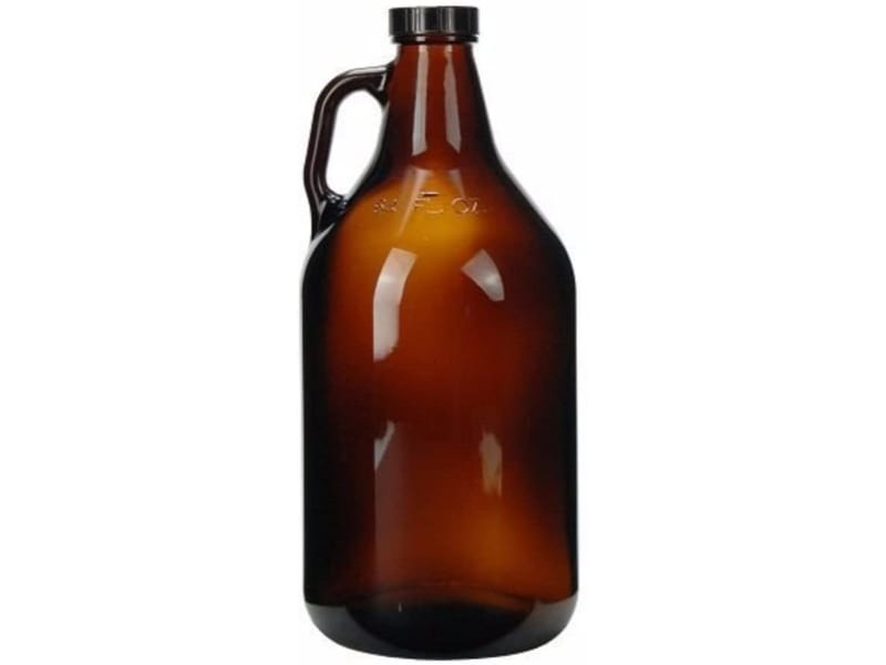 Glass Growler with poly seal cap
