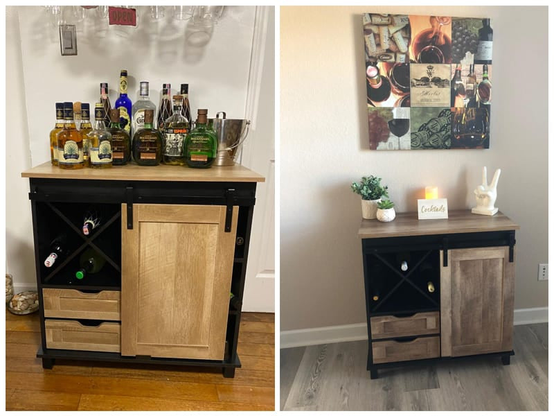 Glitzhome Wine Cabinet & Storage review