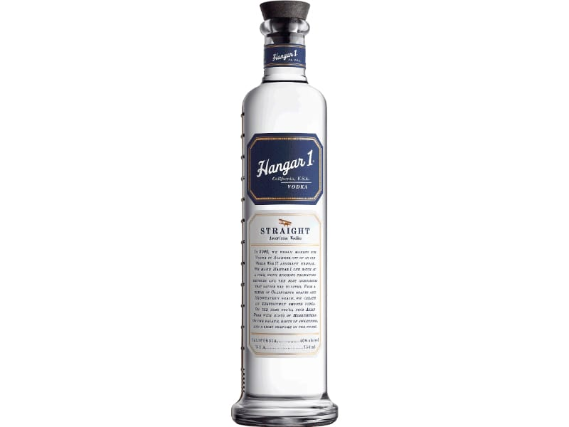 A bottle of Hangar 1 Vodka