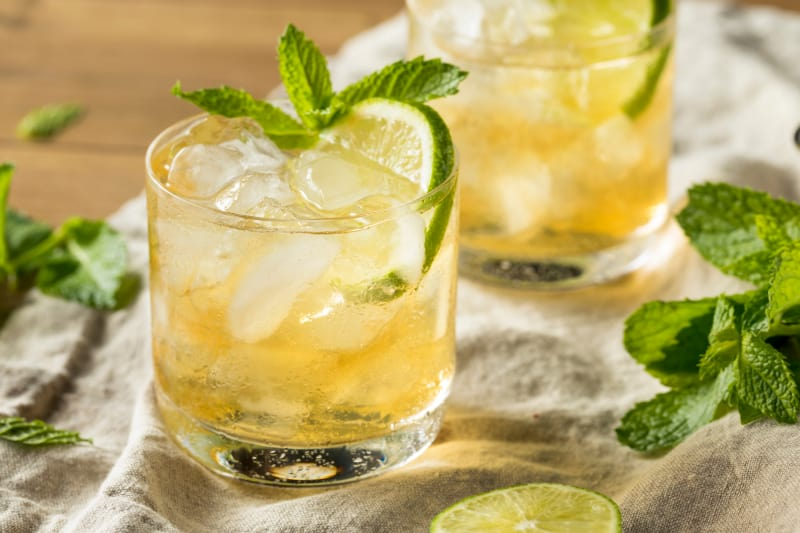 Homemade Moscow Mule with Green tea