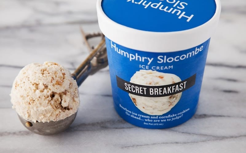 Humphry Slocombe Secret Breakfast in a scoop and container