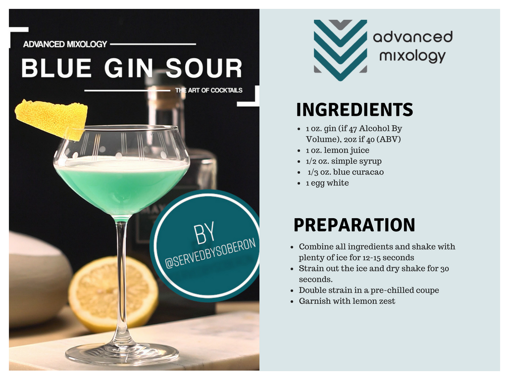 Blue Gin Sour Cocktail Recipe