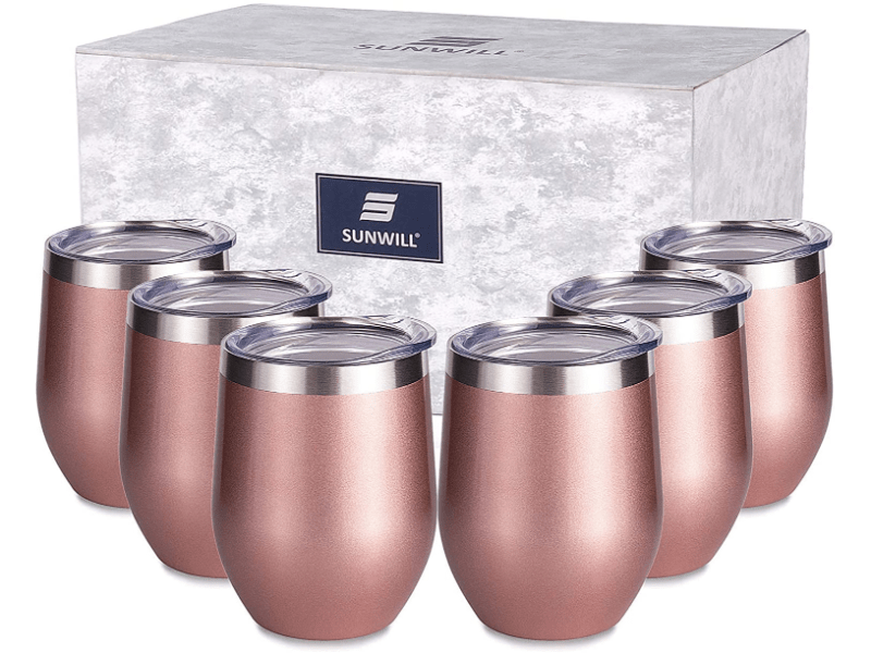 Sunwill Insulated Stemless Wine & Coffee Tumbler 6 Pack