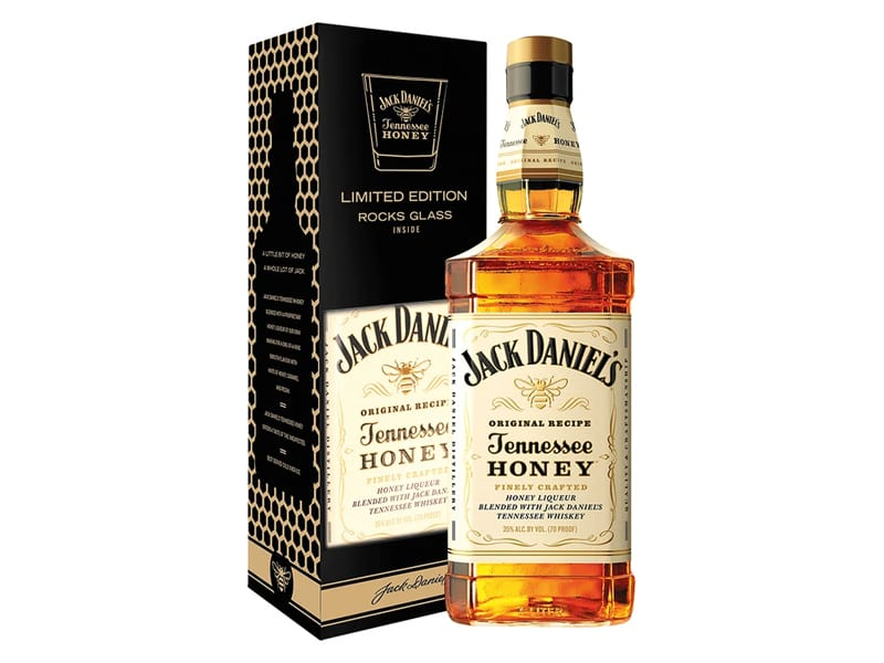 Jack Daniel's Tennessee Honey Whiskey with box
