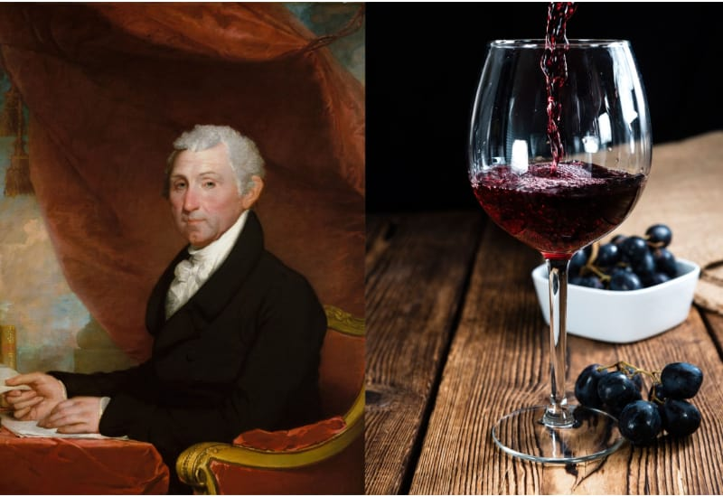 James Monroe and French Red Wine