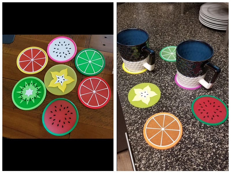 JASSINS Fruit Coaster for Drinks - Most Fun Design review