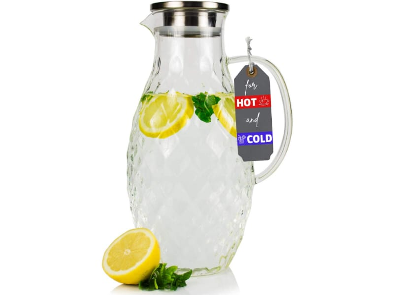 JCPKitchen 100 oz. Glass Pitcher with Lid and Spout
