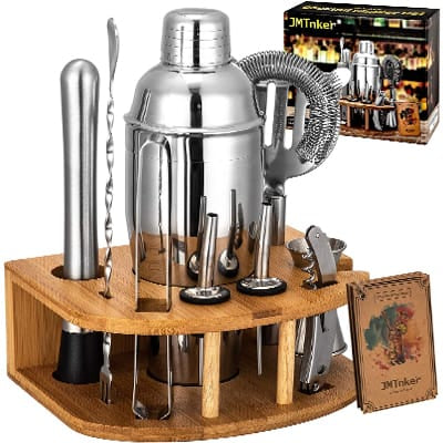 JMTnker Cocktail Shaker Set With Stand