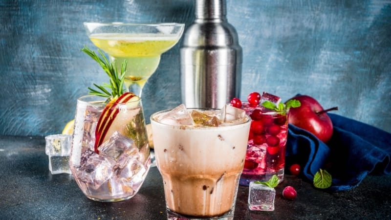 Kahlua cocktail with various ingredients