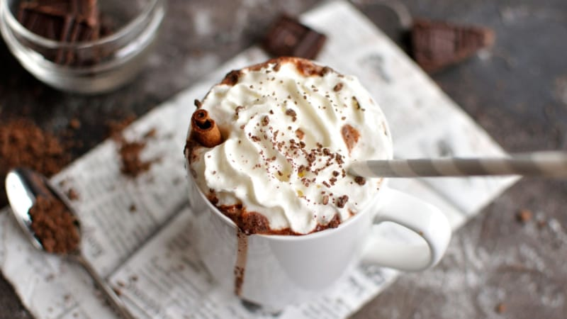 Kahlua Hote Chocolate with whipped cream