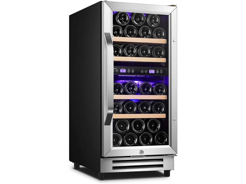 Karcassin Wine Fridge with wine bottles inside