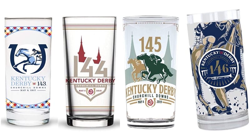 Kentucky Derby Licensed Mint Julep Cups, set of 4