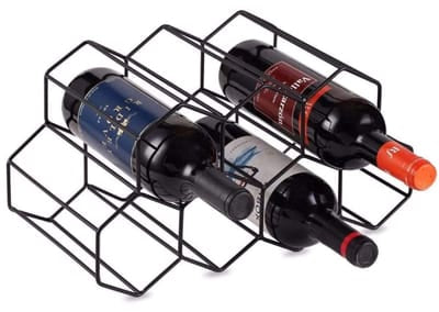 KirinRen Black Metal Wine Rack