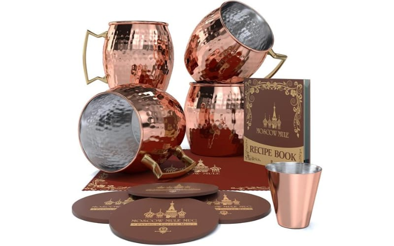 Krown Kitchen Moscow Mule Copper Mugs, Set of 2