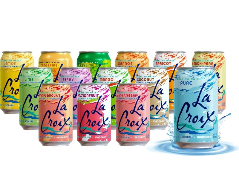 La Croix sparkling water in various flavors