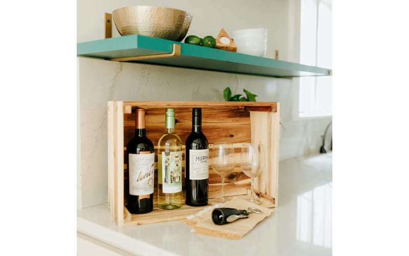 Large Wooden Wine Crate
