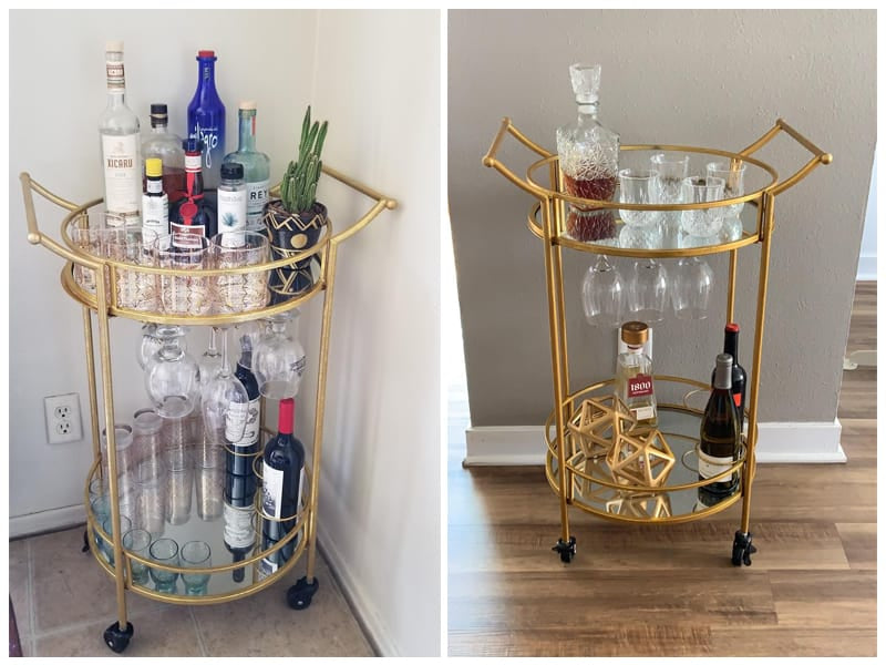 Linon Round Bar & Wine Cart review