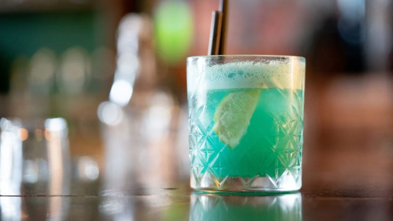 Liquid Marijuana Cocktail II with straw